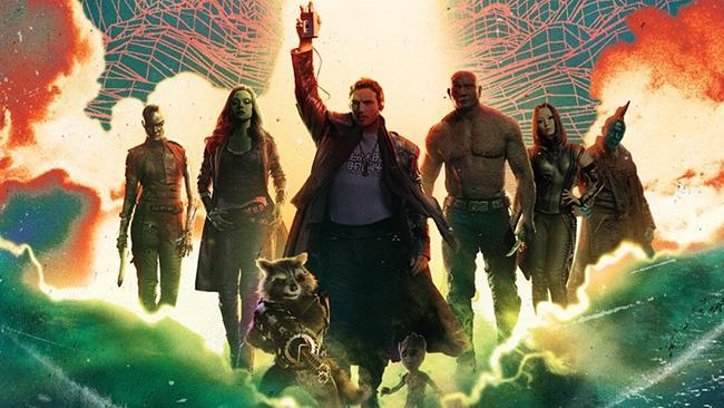 I Guardiani della Galassia in uno dei poster promozionali del film