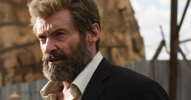L'attore Hugh Jackman interpreta Logan nel film Logan - The Wolverine di James Mangold