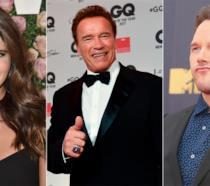 Katherine Schwarzenegger, il padre Arnold e Chris Pratt