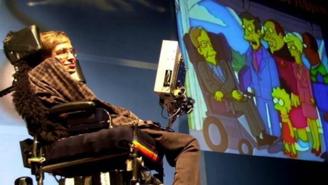 Stephen Hawking e la sua controparte ne I Simpson