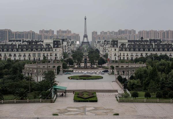 Il panorama della città Tianducheng