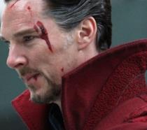 Benedict Cumberbatch sul set di Doctor Strange