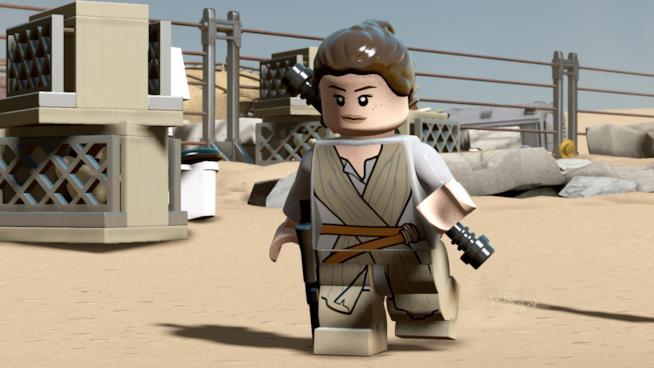 Rey in versione LEGO in Stra Wars: Il Risveglio della Forza