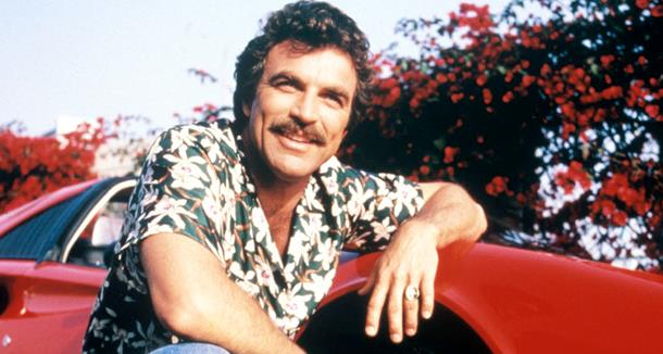 Tom Selleck nel ruolo di Thomas Magnum