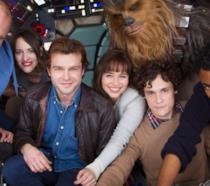 Il cast di Han solo in una foto ufficiale