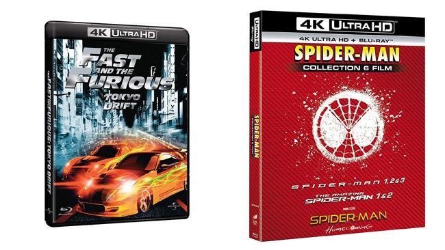 Fast & Furious 1-3 e Spider-Man - Home Video