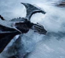 Un drago inghiottito dal ghiaccio nel primo teaser di GoT 8