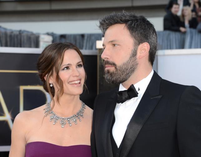 Jennifer Garner sorride a Ben Affleck