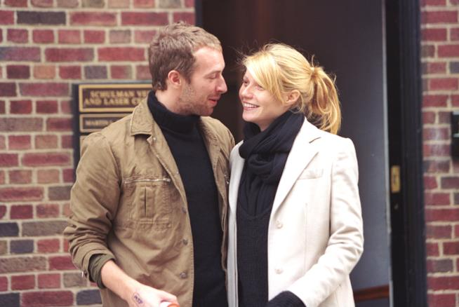 Foto di Chris Martin e Gwyneth Paltrow felici insieme