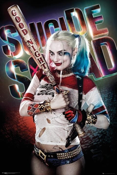Margot Robbie nel character poster di Harley Quinn