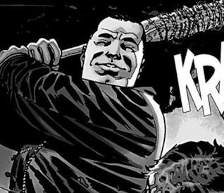 Negan e Lucille nei fumetti
