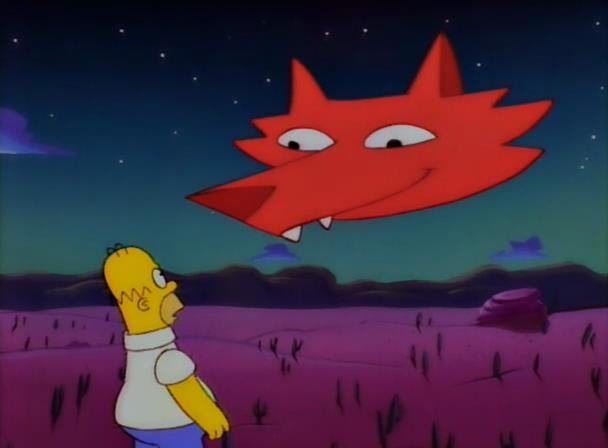 Homer in Il Viaggio Misterioso di Homer