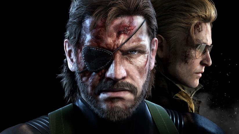 Snake in primo piano sulla cover di Metal Gear Solid V
