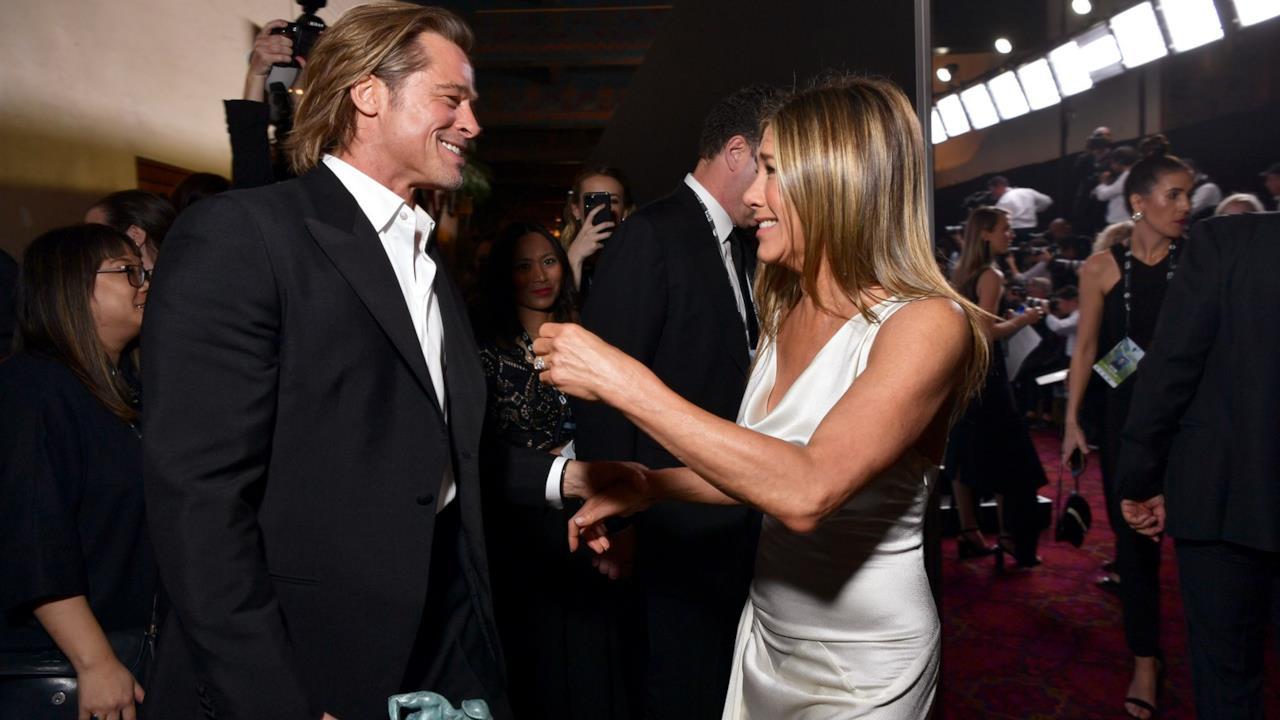 Brad Pitt e Jennifer Aniston: la vittoria e la reunion ai SA
