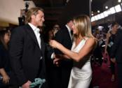 Brad Pitt e Jennifer Aniston dietro le quinte dei SAG Awards 2020