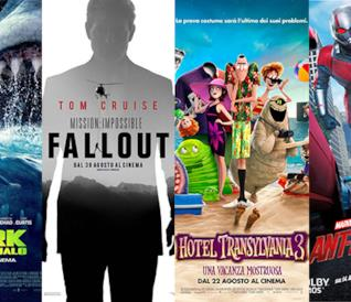 I poster di Shark, Mission: Impossible 3, Hotel Transylvania 3, Ant-Man and the Wasp