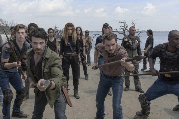 The Walking Dead: una scena dall'episodio 10x01