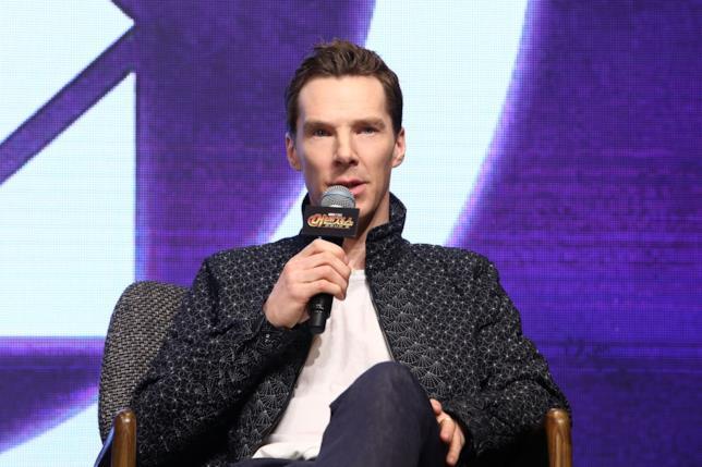 Benedict Cumberbatch alla conferenza stampa di Avengers: Infinity War