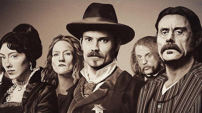 Il cast di Deadwood in tinta opaca