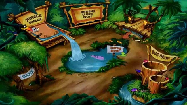 Un frame del videogioco Timon & Pumbaa: Giochi nella giungla