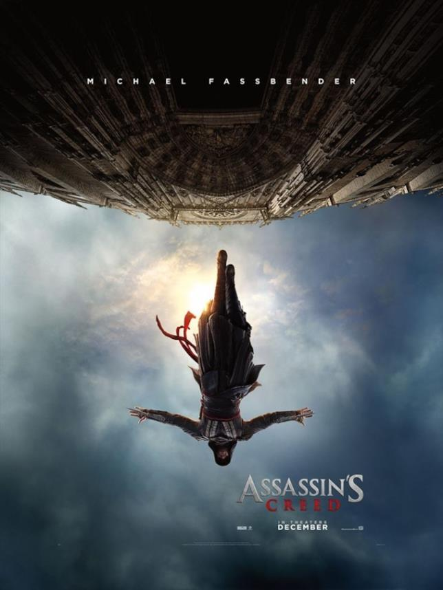 Michael Fassbender nel poster di Assassin's Creed