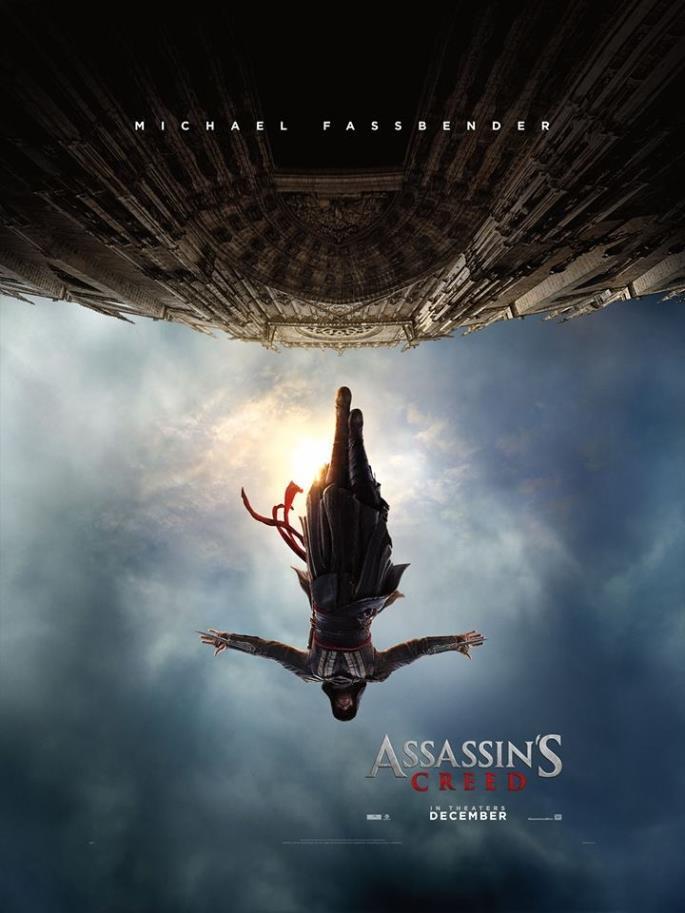Michael Fassbender nel poster di Assassin's Creed