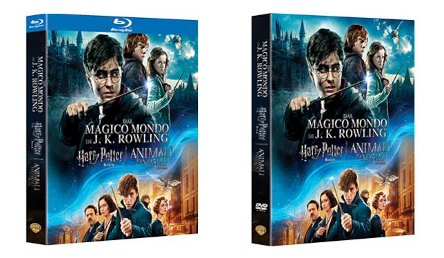 Wizarding World Boxset, packshot delle due versioni