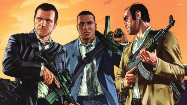 I tre protagonisti di GTA V pronti a combattere