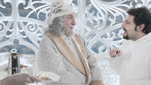 Riccardo Garrone nello spot Lavazza con Enrico Brignano