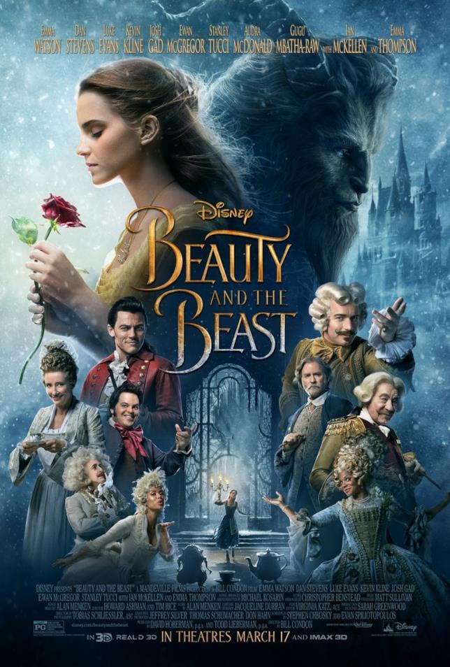 Il nuovo poster di La Bella e La Bestia con tutti i protagonisti del film