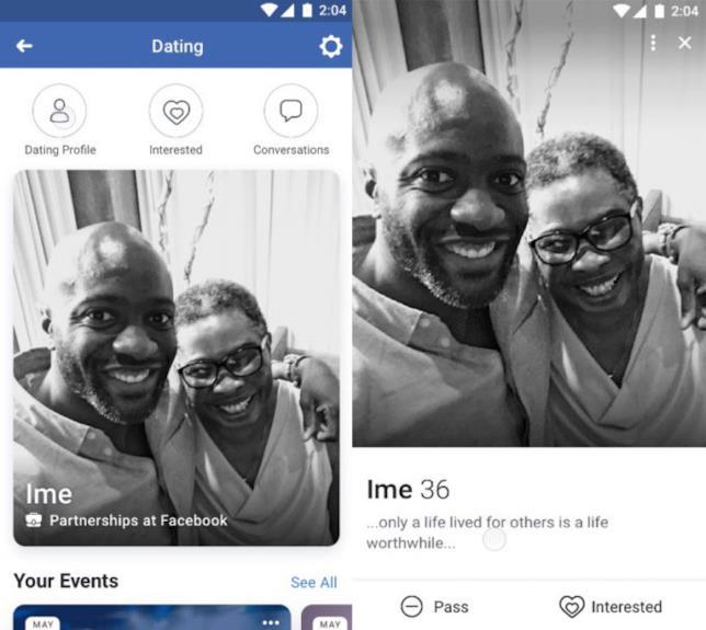 Dettagli del nuovo profilo per dating online di Facebook