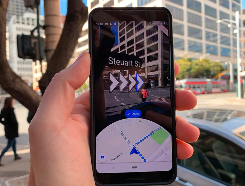 La funzione Live View di Google Maps