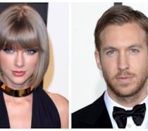Primo piano di Calvin Harris e Taylor Swift