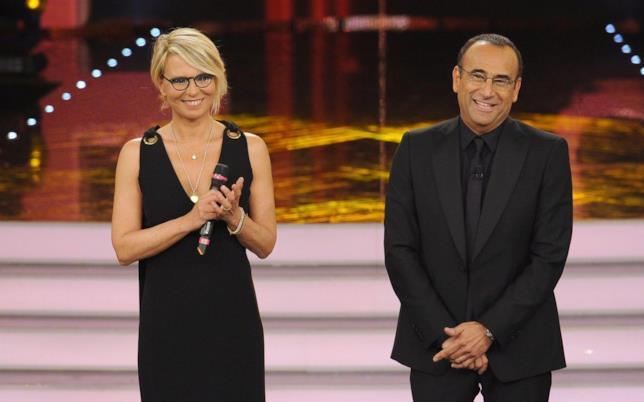 Maria De Filippi e Carlo Conti a Sanremo 2017