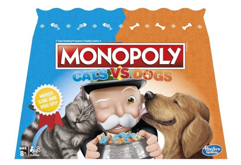 La scatola di Monopoly Cats vs. Dogs