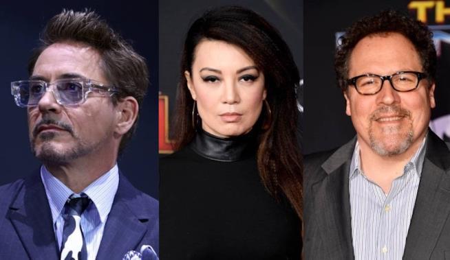 Robert Downey Jr., Ming-Na Wen e Jon Favreau