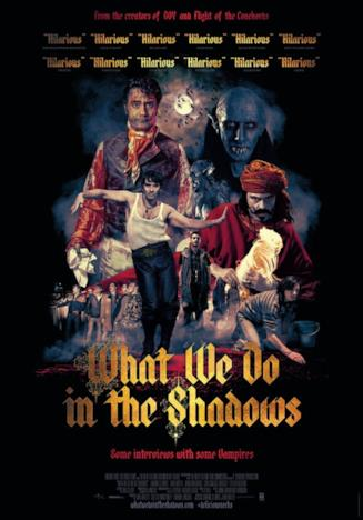 Il poster ufficiale del film What We Do in the Shadows