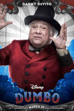Danny DeVito è Max Medici nel character poster dal film di Dumbo (2019)