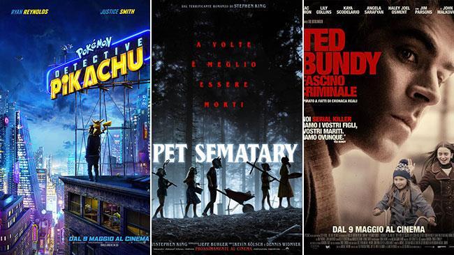 I film al cinema nel weekend dell'11 e 12 maggio 2019