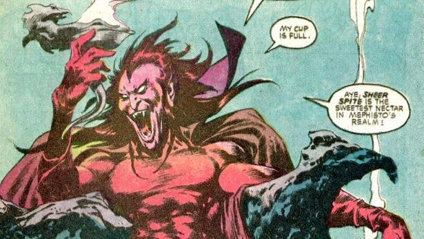 Mephisto in una vignetta di un fumetto Marvel