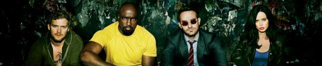 Immagine promozionale per la serie Marvel/Netflix The Defenders