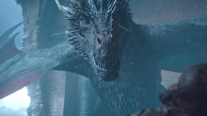 Il drago Drogon in Game of Thrones 8x06