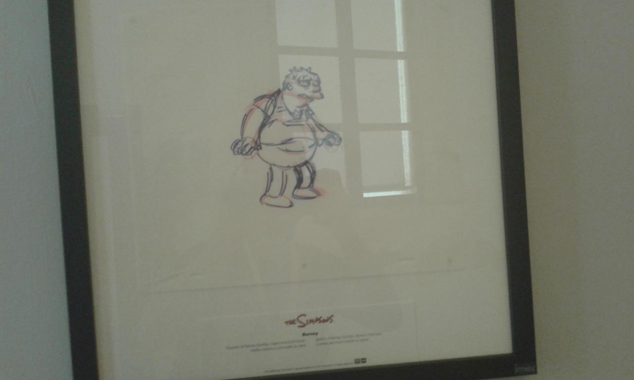 Barney da una tavola del Bergamo Toons