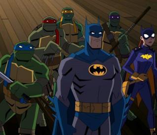 Batman e i suoi alleati insieme alle Tartarughe Ninja