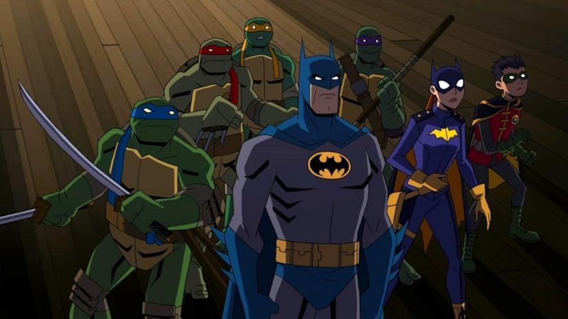 Batman contro le tararughe ninja in un nuovo film animato