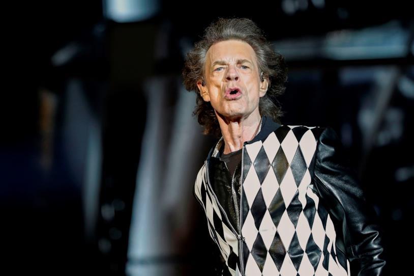 Il cantante Mick Jagger