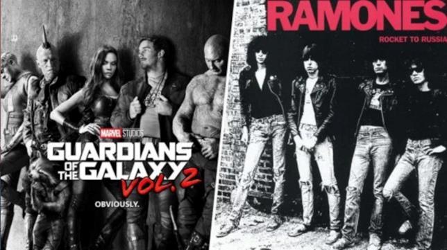 Confronto tra il teaser poster e la copertina dell'album Rocket to Russia dei Ramones