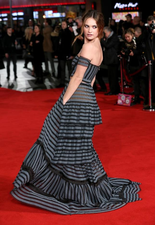 L'attrice Lily James