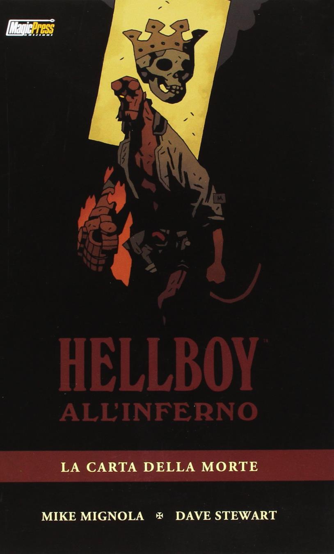 Hellboy nella cover de La carta della morte