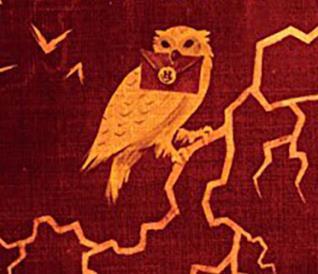 Il gufo con la lettera di Hogwarts nel becco